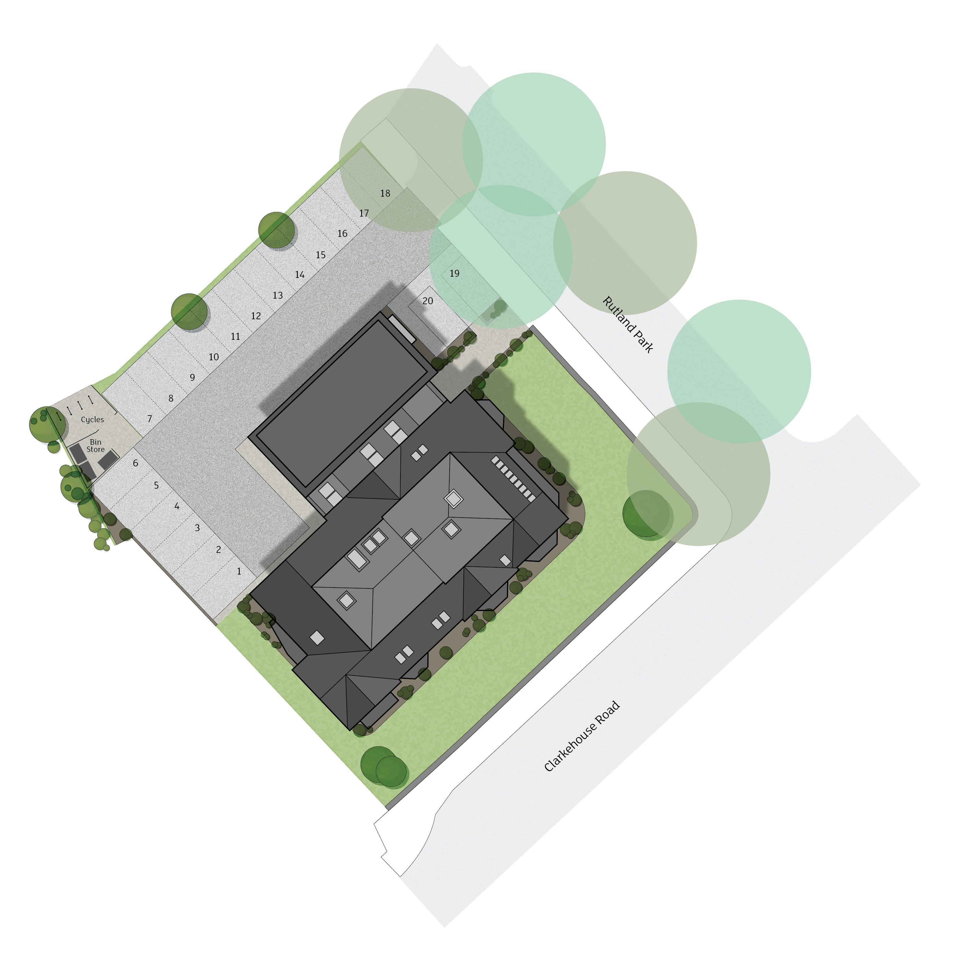 Site plan for Botanical House